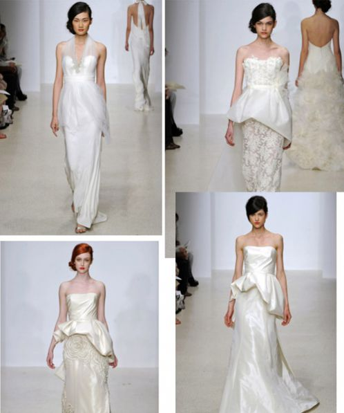 Amsale's Wedding Dresses Spring 2013 With Modern Style & Plenty of Peplums
